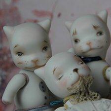 Шуры-Муры. Фарфоровые котики.