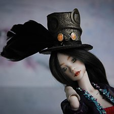 Миднайт (Полночь). Фарфоровая шарнирная кукла.