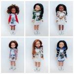 Трикотажные платья-толстовки для подружек Paola Reina