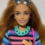 Рыжая пышка веснушка Барби 84 шарнирная гибрид + 2 наряда Barbie