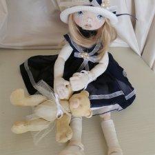 Девочка с медведем. Текстильная кукла