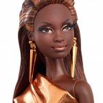 Коллекционная кукла Барби Лук Городской блеск. Бронзовое платье.Barbie The Look Мбилли