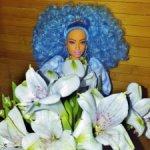 Барби Экстра №4 голубые волосы. Пышка. Ким/Чандра. нюд.
