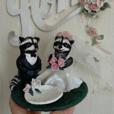 Енотики-жених и невеста