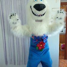 Ростовая кукла Белый Мишка
