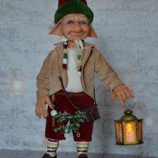 Авторская кукла Рождественский Гномик