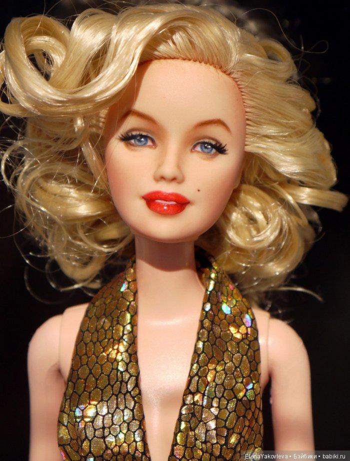 Портретный ооак Барби на Мэрилин Монро, автор Света Матвеева