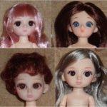 Шарнирные куколки 16см, тела, головы - разные