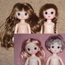 Шарнирные китайские куколки (15см, разные), тела, головы