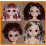 Шарнирные куколки 16см, головы
