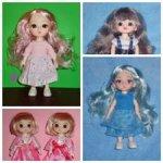 Шарнирные куколки 15см в одежде и обуви