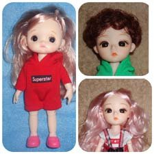 Шарнирные куколки -15 см (цена - за 1 куклу)