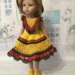 Вязанный наряд для кукол Paola Reina 32-34 см