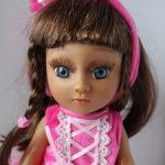 Куколка-балерина 33 см в малиновом