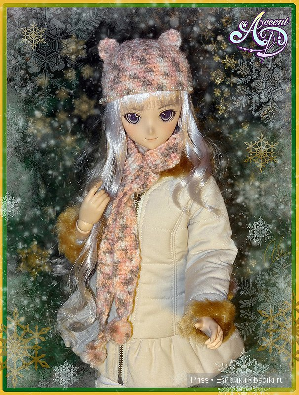 Шапочка и шарфик DD, DDS, MDD, Smart Doll автор Priss Asagiri, AccentD