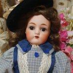 Антикварная кукла Каммер Рейнхард на кожаном теле (редкость)