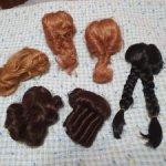 Парики маленькие винтаж для старинных, винтажных и современных кукол