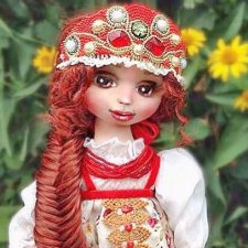 Василиса Прекрасная и Варвара - краса, длинная коса, авторская кукла Моники Шонии