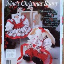 Панель для пошива рождественского кролика. Цена снижена, доставка бесплатная.
