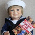 Кукла Cracker Jack Sailor Boy с автографом Линды Стил