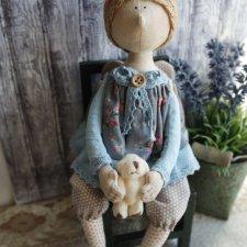 Девочка Тильдочка, кукла из ткани