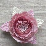 Пыльн0-розовый цветок на шляпку