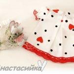 Платье из хлопка для Вихтеля 32 см+ букет подснежников