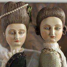 """Новые деревянные куклы в стиле старинных французских """"придворных"""" кукол"""