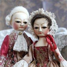 Новые Queen Anne Dolls, пара кукол по мотивам старинных английских кукол