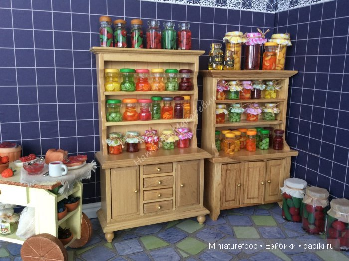 Кукольная еда, варенье, компоты, маринованные овощи