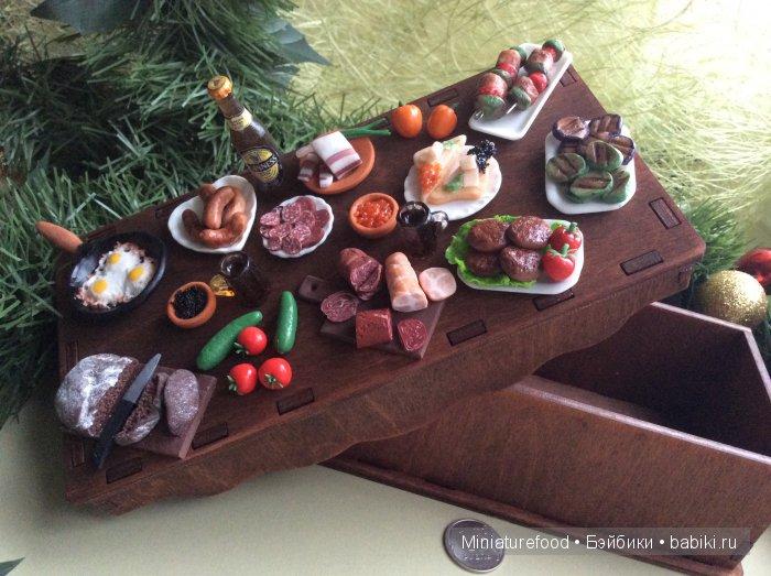 Шкатулка ручной работы в подарок мужчине с имитацией еды
