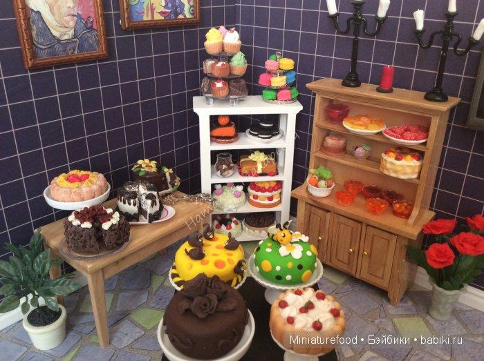 Кукольные торты и пирожные
