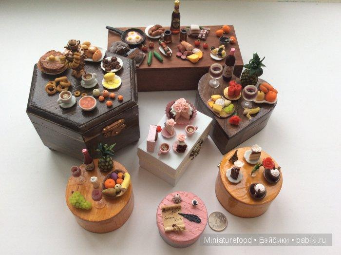Шкатулки ручной работы с имитацией еды на крышке
