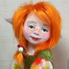 Оригинальные валянные куклы из шерсти