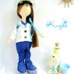 Текстильная кукла морячка Клара