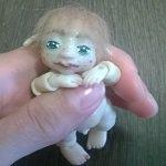 Подвижный гномик. Шарнирная кукла