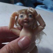 Авторская шарнирные куклы Нинон