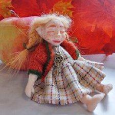 Лесная Соня. Шарнирная авторская кукла