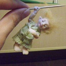 Мальчик-с-пальчик. Авторская шарнирная кукла