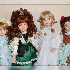 Нежное очарование Линды Мейсон, Linda Mason - Фарфоровые куклы, 2. Был дуэт - стал квартет