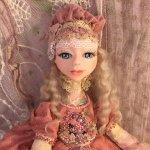 Будуарная авторская кукла из полимерной глины