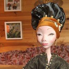 Интерьерная авторская кукла из паперклея