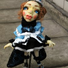 Девочка Мотылек - скульптурно-текстильная, чулочная техника