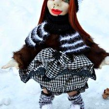Кукла ручной работы Аленка 45 см скульптурный текстиль