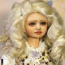 Девочка Марта авторская кукла, запекаемый пластик