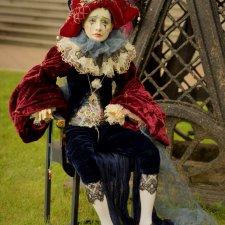 Новая фарфоровая кукла Паяц