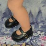 Новые черные туфельки на кукол Готц, на классическое тело