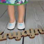 Красивые фирменные туфли с синими бантиками от Паола Рейна