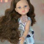 Новинка 2021. Шикарная Кэрол с серо-голубыми глазками и волнистыми волосами от Паола Рейна
