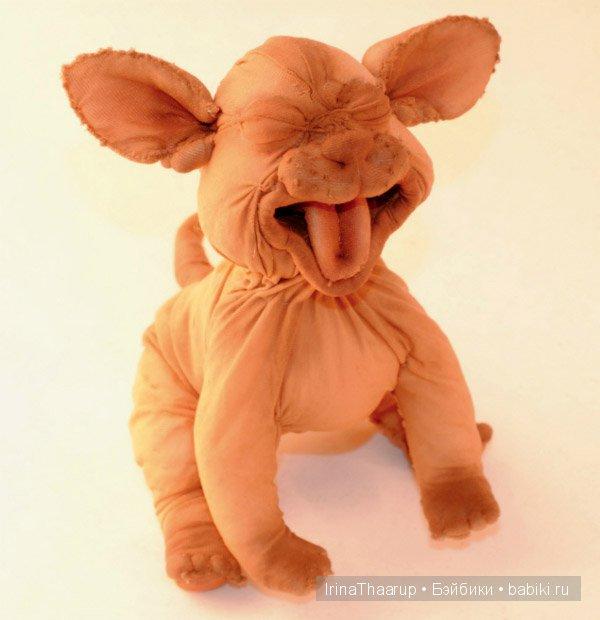 Котенок Сфинкс- текстильная кукла по авторской технологии